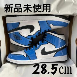 ナイキ(NIKE)の28.5cm NIKE AIR JORDAN 1 MID SIGNAL BLUE(スニーカー)