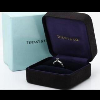 Tiffany & Co. - 美品 ティファニー ソリティア ダイヤリング PT950 国内正規品