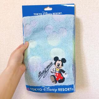 ミッキーマウス(ミッキーマウス)の【新品・未使用】東京ディズニーリゾート ミッキーフェイスタオル(キャラクターグッズ)