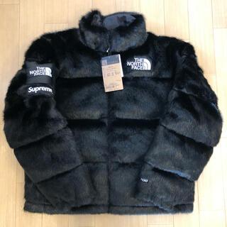 シュプリーム(Supreme)のSupreme TNF fur nuptse jacket 新品未使用(ダウンジャケット)
