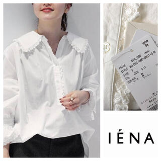 IENA - イエナ sese ビッグカラーレースブラウス ホワイト