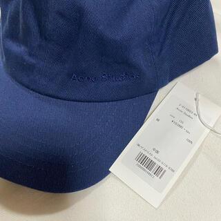 アクネ(ACNE)のACNE ネイビー キャップ 帽子 ネイビー アクネ(キャップ)