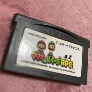 ゲームボーイアドバンス(ゲームボーイアドバンス)のゲームボーイアドバンスソフト マリオアンドルイージ(携帯用ゲームソフト)