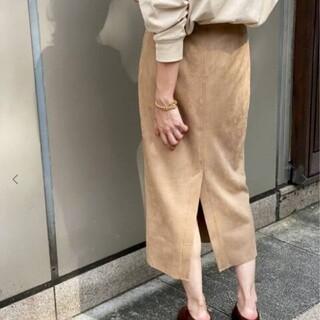 Spick and Span - スピックスパン フェイクスエードストレッチタイトスカート