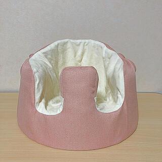 バンボ(Bumbo)のバンボカバー(ピンク×ホワイト)(シーツ/カバー)