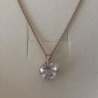 4℃ - 4°C K18 ピンクゴールド ネックレス クォーツ ダイヤモンド