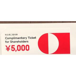 ジンズ(JINS)の番号通知 5000円JINS ジンズ 株主ご優待券  (ショッピング)