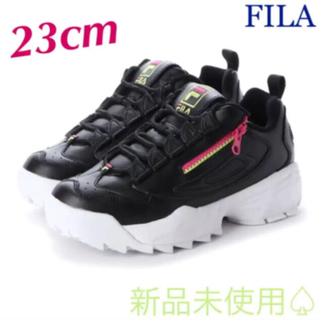 FILA - 【FILA】ディスラプター3 ZIP 厚底ダッドスニーカー【ブラック/ホワイト】