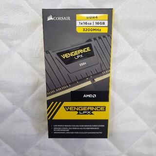 サムスン(SAMSUNG)の新品未開封 CORSAIR DDR4 3200MHz 16GB 1x16GB(PCパーツ)