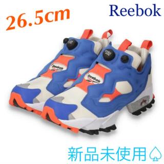 リーボック(Reebok)の【Reebok】インスタポンプフューリー【ホワイト/ブルー/オレンジ】(スニーカー)
