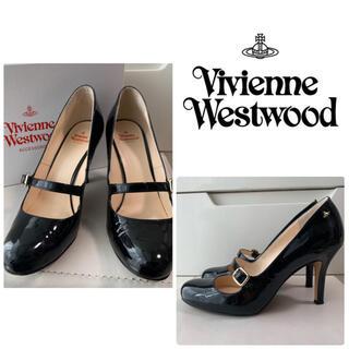 ヴィヴィアンウエストウッド(Vivienne Westwood)のヴィヴィアンウエストウッド ブラックエナメル オーブ パンプス(ハイヒール/パンプス)