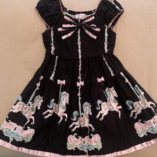 シャーリーテンプル(Shirley Temple)の美品 110 ローズカルーセル ワンピース(ワンピース)