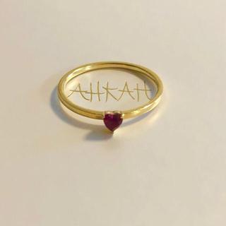 アーカー(AHKAH)のアーカー ノアスピネルリング 9号 K18YG(リング(指輪))