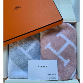 Hermes - 新品未使用 エルメス タオル  2枚、箱、タグ付き