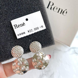 René - 値下げ未使用)ルネビジュースィングイヤリング