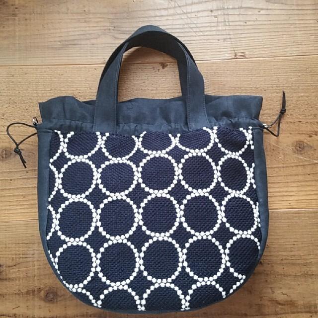 mina perhonen(ミナペルホネン)のミナペルホネン 巾着バッグ ハンドメイド レディースのバッグ(トートバッグ)の商品写真