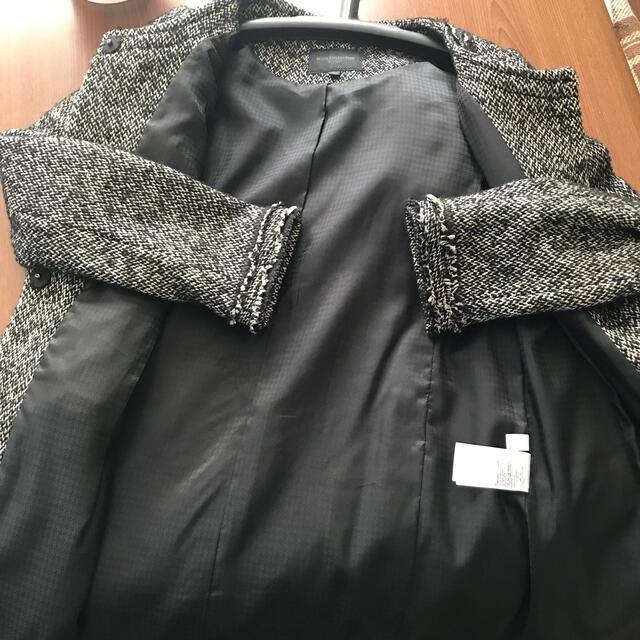 UNIQLO(ユニクロ)のユニクロ ノーカラーコート ツイード  レディースのジャケット/アウター(ノーカラージャケット)の商品写真