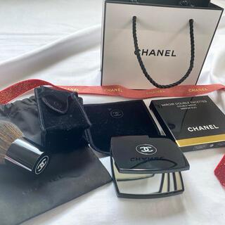 シャネル(CHANEL)のCHANEL コンパクトミラー&パウダーブラシ セット(ミラー)