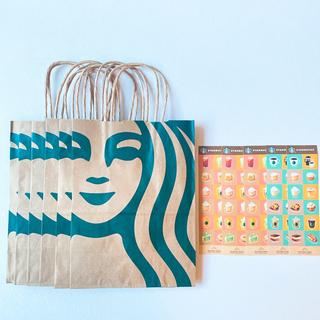 スターバックスコーヒー(Starbucks Coffee)のスターバックス 紙袋 非売品限定ステッカー(ショップ袋)