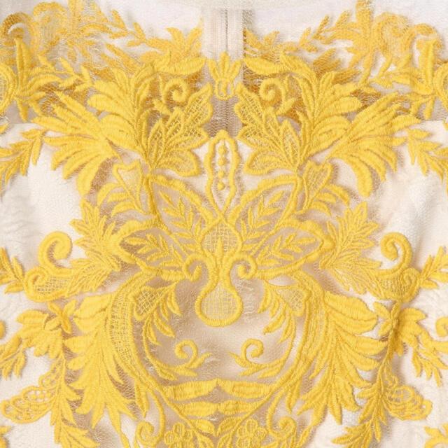 GRACE CONTINENTAL(グレースコンチネンタル)のグレースコンチネンタル シースルー刺繍ワンピース 36 レディースのワンピース(ひざ丈ワンピース)の商品写真
