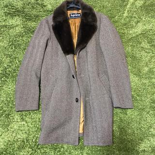 シュプリーム(Supreme)のM supreme 15AW Fur Collar Tweed Coat (ステンカラーコート)