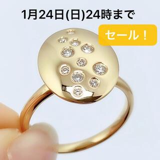 K18 イエローゴールド ダイヤモンド 0.22 リング 指輪(リング(指輪))