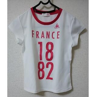 ルコックスポルティフ(le coq sportif)のle coq 白/ピンク Tシャツ 130(Tシャツ/カットソー)