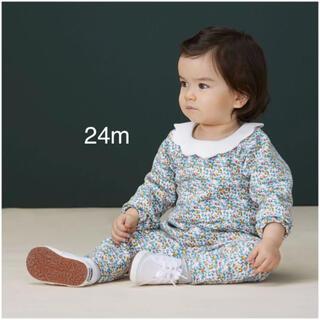 プチバトー(PETIT BATEAU)のプチバトー  衿つきプリントカットソー(Tシャツ/カットソー)