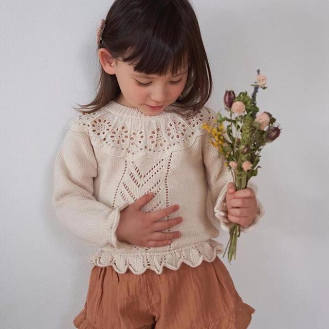 Caramel baby&child (キャラメルベビー&チャイルド)の新品未使用 ベビー キッズ ニット セーター 100 女の子 キッズ/ベビー/マタニティのキッズ服女の子用(90cm~)(ニット)の商品写真