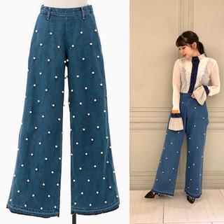 エディットフォールル(EDIT.FOR LULU)の Tu es mon TRSOR Dot pearl wide jeans(デニム/ジーンズ)