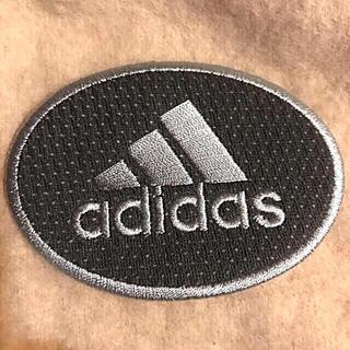 アディダス(adidas)のadidas アディダス アイロンワッペン ワッペン グレー  刺繍ワッペン(各種パーツ)