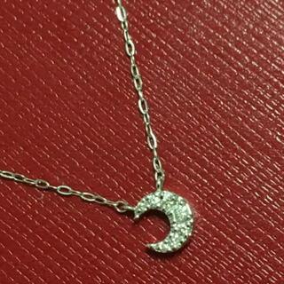 4℃ - 4°C k18 ネックレス ペンダント ダイヤモンド ヨンドシー  18金 月