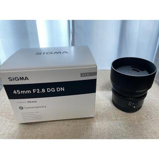 シグマ(SIGMA)のSIGMA 45mm F2.8 DG DN SONY Eマウント 美品(レンズ(単焦点))