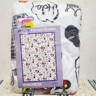 ミッキーマウス(ミッキーマウス)のディズニー ミッキー ミニー フランネル毛布 ブランケット 毛布 シングルサイズ(キャラクターグッズ)