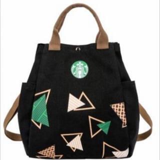 スターバックスコーヒー(Starbucks Coffee)の【スターバックス海外限定】日本未発売 トートバック ショルダーバッグ 黒色 1点(トートバッグ)