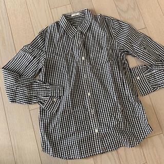 ジーユー(GU)のギンガムチェックシャツ 長袖(シャツ/ブラウス(長袖/七分))