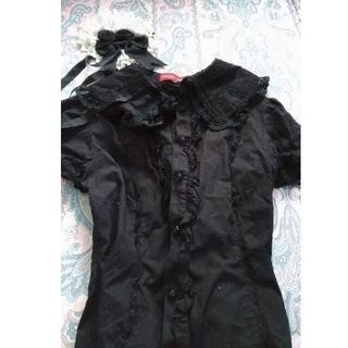 ボディライン(BODYLINE)のゴスロリブラウスとヘッドドレス(衣装)