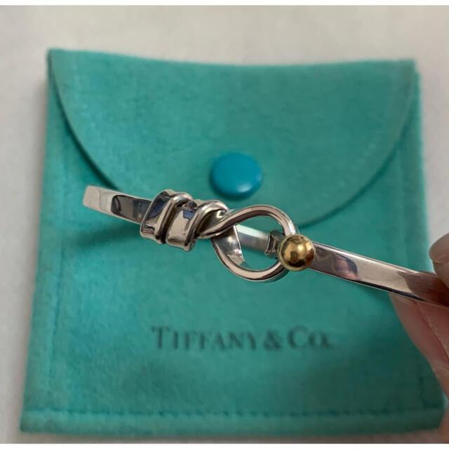 Tiffany & Co.(ティファニー)のティファニー Tiffany フック バングル  ブレスレット k18 シルバー レディースのアクセサリー(ブレスレット/バングル)の商品写真