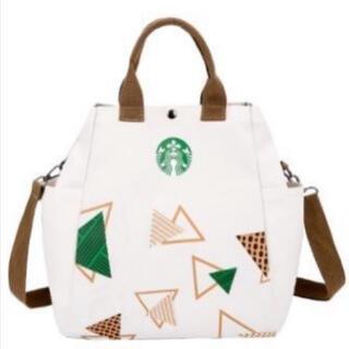 スターバックスコーヒー(Starbucks Coffee)の【スターバックス海外限定】日本未発売 トートバック ショルダーバッグ 白色 1点(トートバッグ)