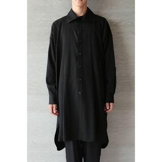 Yohji Yamamoto - yohji yamamoto pour homme ウールギャバロングシャツ