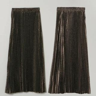 ジーナシス(JEANASIS)の即購入可 JEANASIS リバーシブルシャンブレープリーツスカート(ロングスカート)