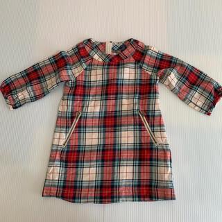ベビーギャップ(babyGAP)のbabyGAP GAP チェックシャツ ワンピース チュニック トップス(ワンピース)