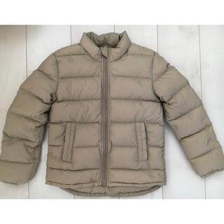 MUJI (無印良品) - 無印良品 140cm ダウンジャケット ベージュ 茶 黄土色 アウター 羽毛
