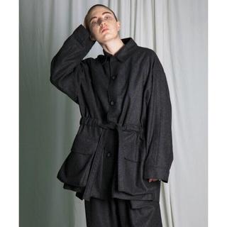 ドゥルカマラ(Dulcamara)のmy beautiful landlet wool flannel jacket(ステンカラーコート)