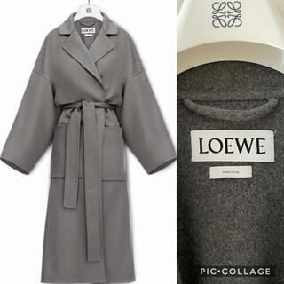 ロエベ(LOEWE)の美品 LOEWE ロエベ  カシミヤ混 ガウンコート グレー(ロングコート)