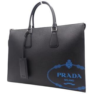 プラダ(PRADA)のプラダビジネスバッグ サフィアーノレザー ブラック黒 青 40800064773(ビジネスバッグ)