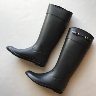 ナノユニバース(nano・universe)の美品*nano universe購入 ロングレインブーツ 23.5(レインブーツ/長靴)