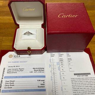 Cartier - カルティエ ソリテール 0.3ct プラチナ #49
