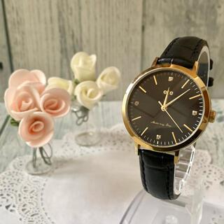 エテ(ete)の【動作OK】ete エテ 腕時計 ボーイフレンド 4石 ブラック(腕時計)
