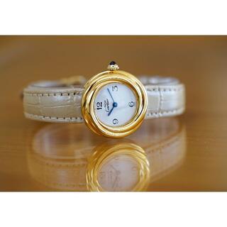 Cartier - 美品 カルティエ マスト トリニティ ホワイト アラビア SM Cartier